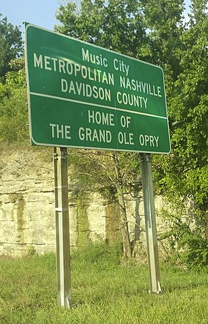 Grand Ole OPry Highway sign